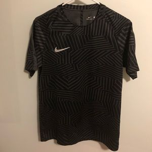 Nike Dri Fit Men's Black/Grey Pattern T-Shirt Tee